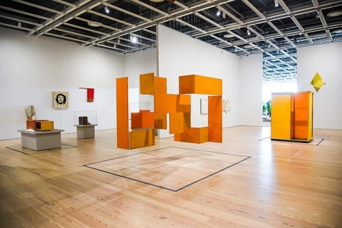 Installation view, Hélio Oiticica: To Organize Delirium, Whitney Museum of American Art, New York, 2017 (photograph by Matt Casarella provided by Whitney Museum)