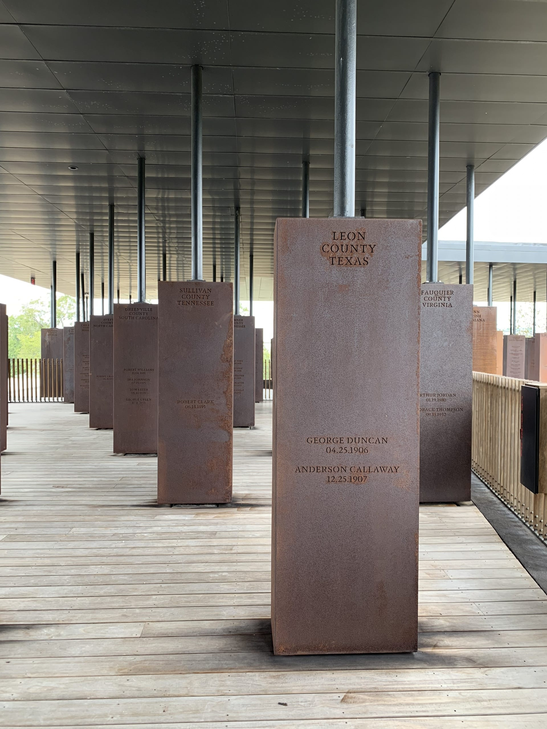 view of multiple stelae in memorial