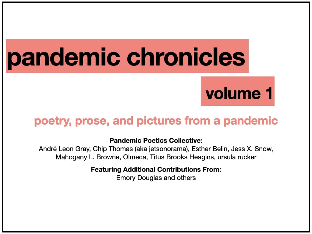 Title slide for artist bios, acknowledgments, resources, and glossary, listing names of participating artists